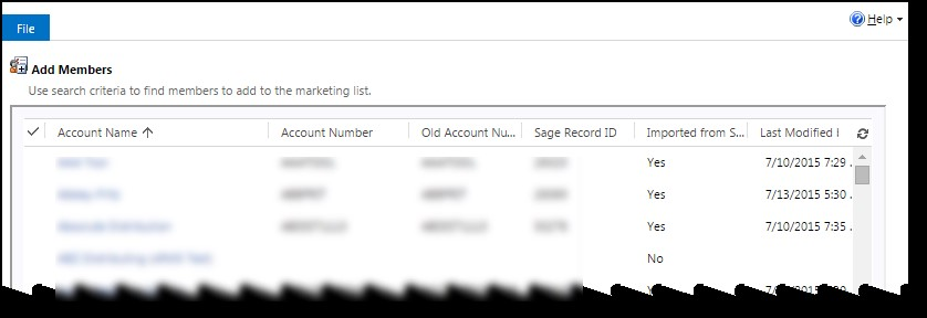 Microsoft Dynamics CRM - Using Marketing Lists to Enhance Advanced Find 6