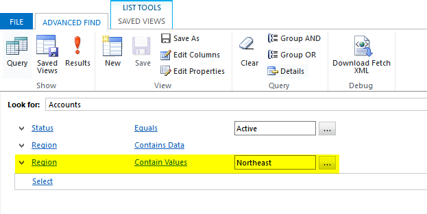 Multi-Select field in Advanced Finds-Filtering by multi-select field