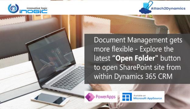 Open Folder button to open SharePoint site