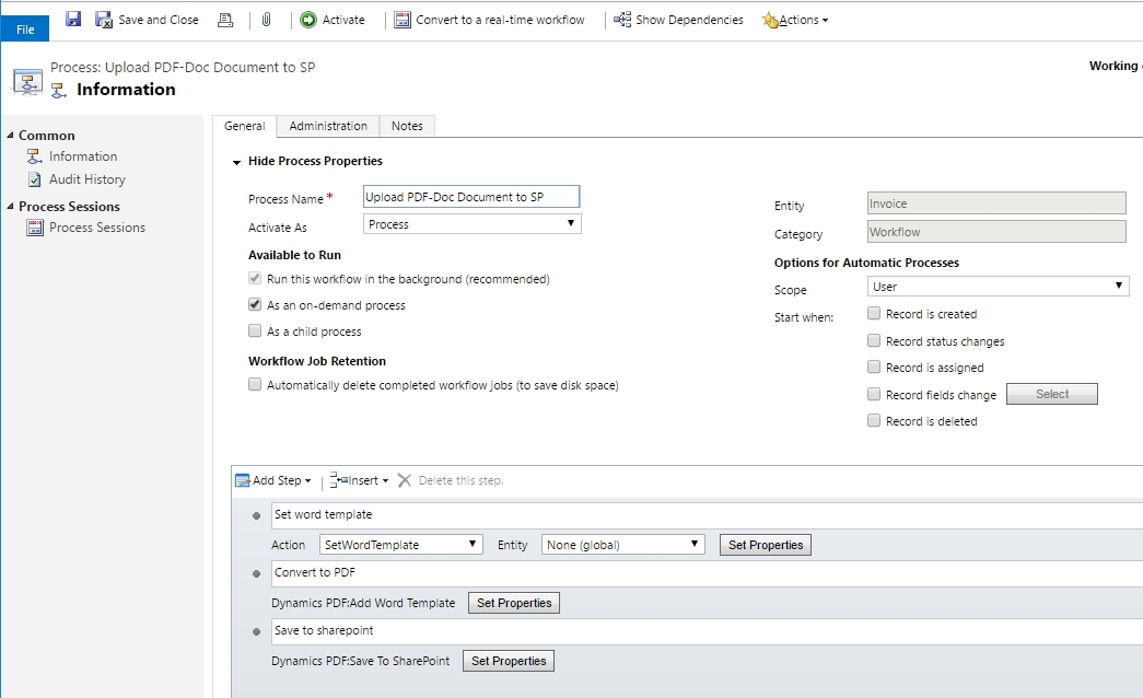 PDF Docs SP workflow1 Upload CRM Word Templates to SharePoint or attach to Email