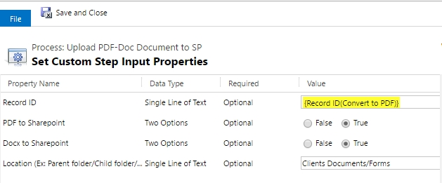 PDF Docs SP workflow4 Upload CRM Word Templates to SharePoint or attach to Email