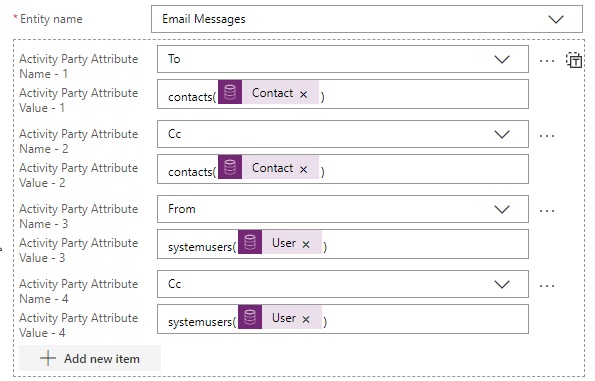 Power Automate - Create Email Message recipients