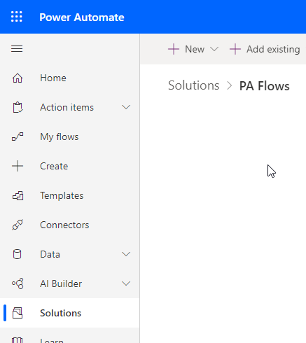 Power Automate - Create Solution