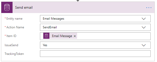 Power Automate - Send Email Bound Action