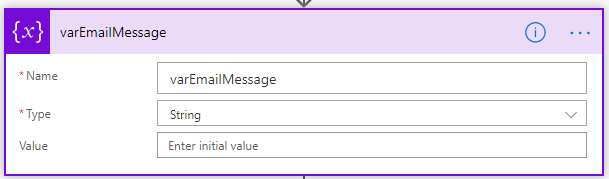 Power Automate - Variable Email Message