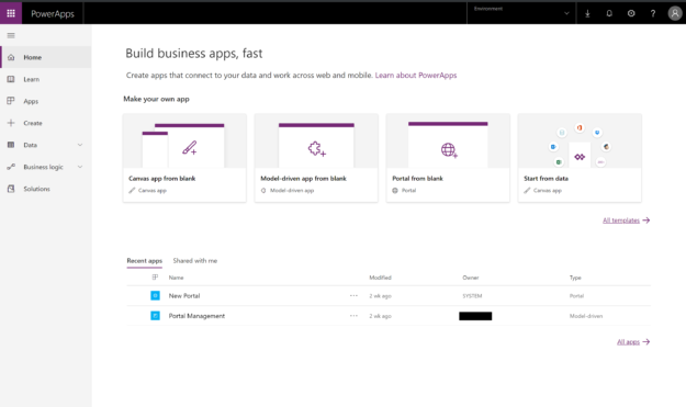 PowerApps Portal getting started 625x371 Highlights of Upcoming Dynamics 365 October 2019 Updates