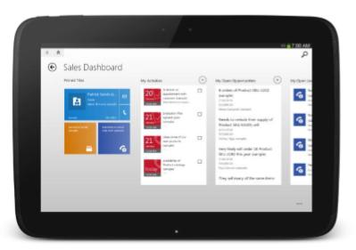 Sales Dashboard Tablet