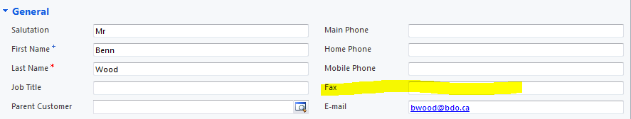 CRM Contact Form
