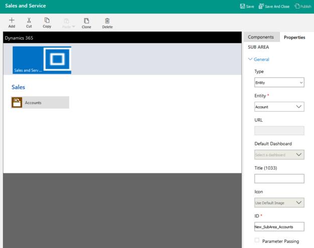 Site Map Designer - Update Subarea - New