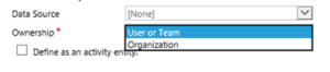 Virtual Entities oranisation user or team 300x66 Dynamics 365 v. 9 New Functionality – Virtual Entities