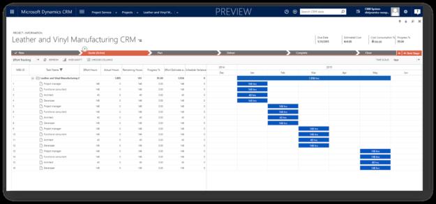 CRM Visual Project Management