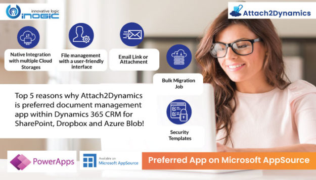 why Attach2Dynamics is preferred document management app within Dynamics 365 CRM for SharePoint, Dropbox and Azure Blob header