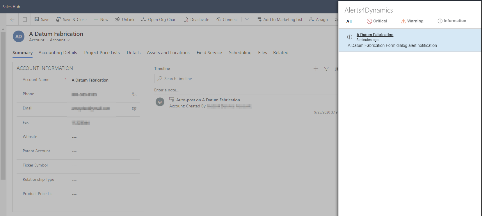 manage Alerts & Notifications within Dynamics 365 CRM