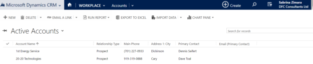 How to search in Microsoft Dynamics CRM
