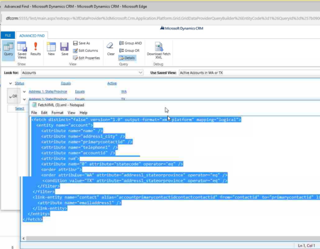 exporting XML file from Dynamics CRM to SSRS