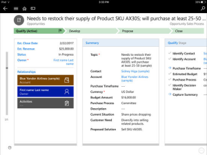 Microsoft Dynamics 365 Mobile Feature Details
