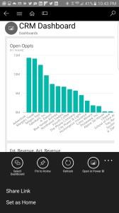 Microsoft Dynamics 365 Power BI Mobile