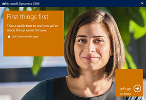 """Microsoft CRM """"First Things First"""""""