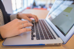 Dynamics CRM viewed on a laptop