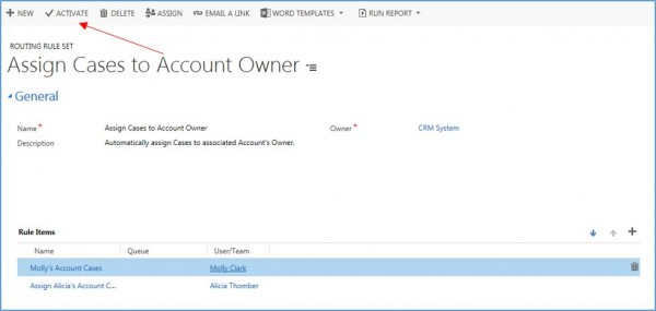 how to create routing sets and routing rules in microsoft dynamics crm 9