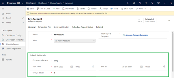 Automate export of Dynamics 365 CRM data