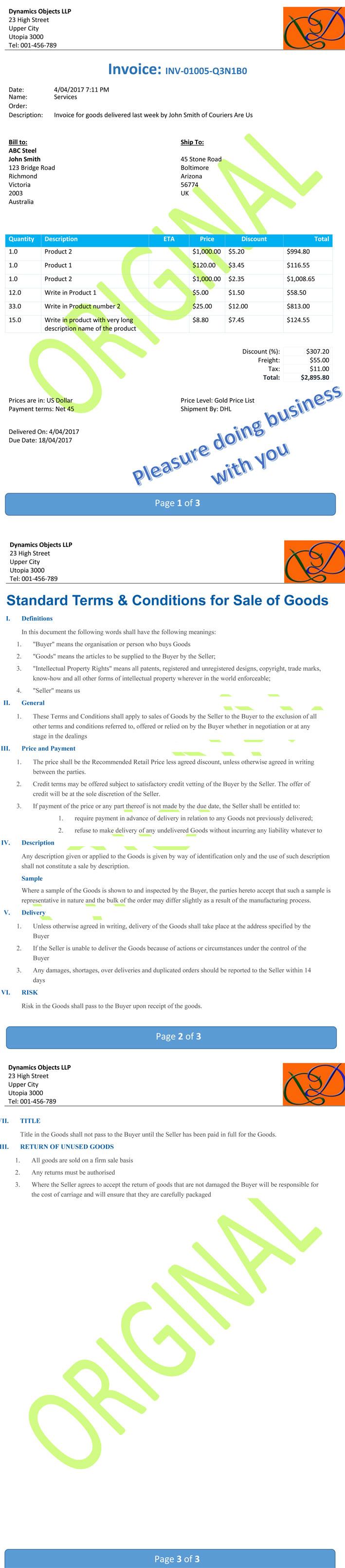 invoice 3 pages 1 Dynamics PDF Docs> Just Got Better !