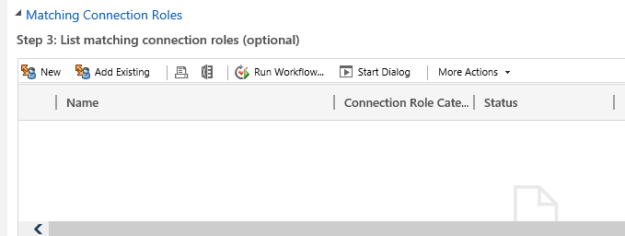 matching connection role dynamics 365