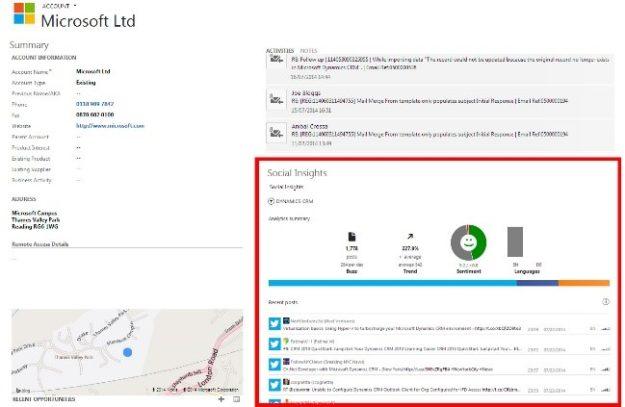 Microsoft Dynamics 365 Social Insights Details