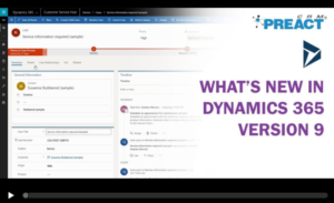 Dynamics 365 Version 9 Demonstration