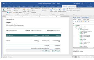 template 300x194 Adding Value to Microsoft Dynamics 365 with Document Generation